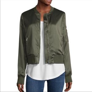 New!!  A.N.A. Green satin jacket
